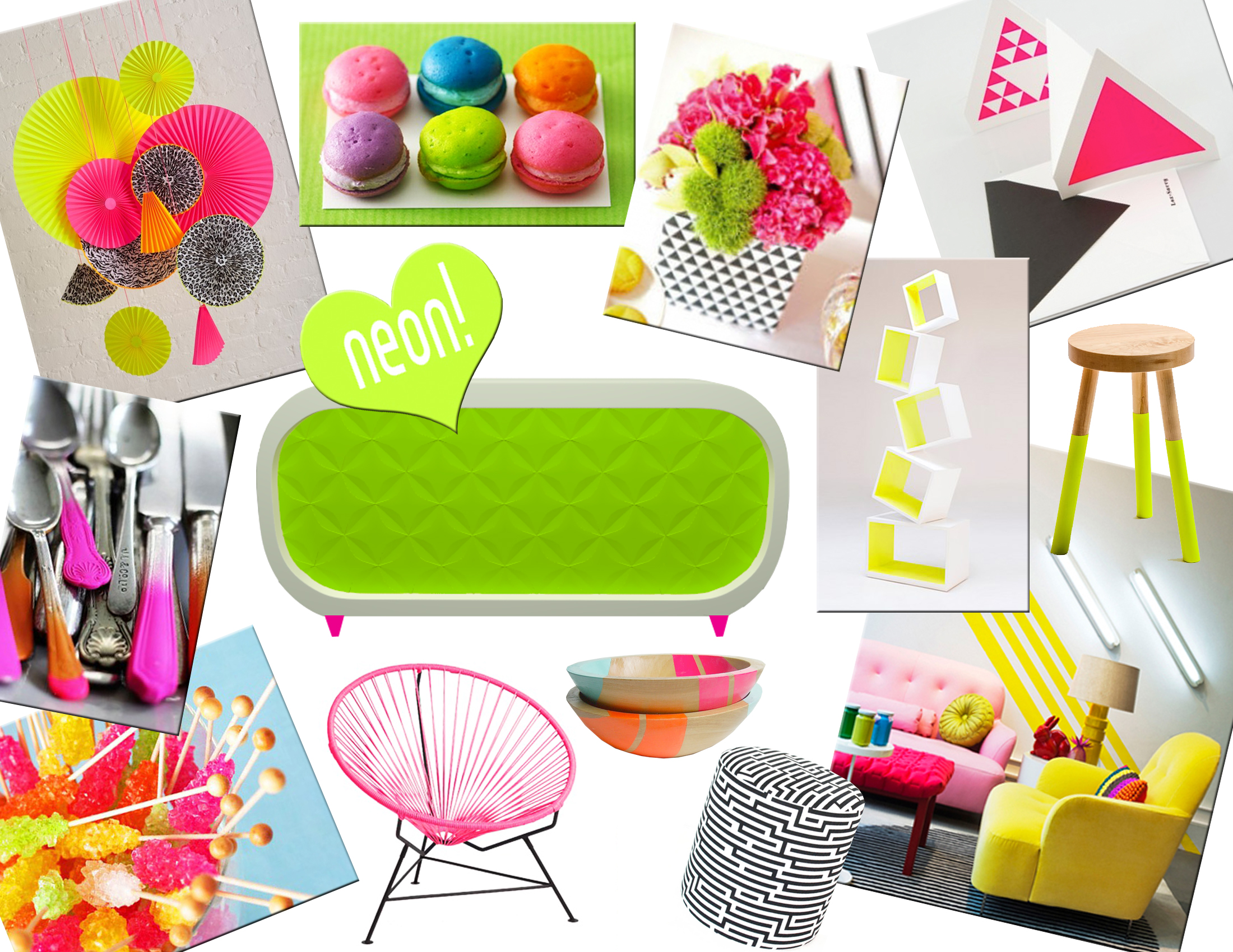 neon furniture. NEON SUMMER-Mood Board Neon Furniture